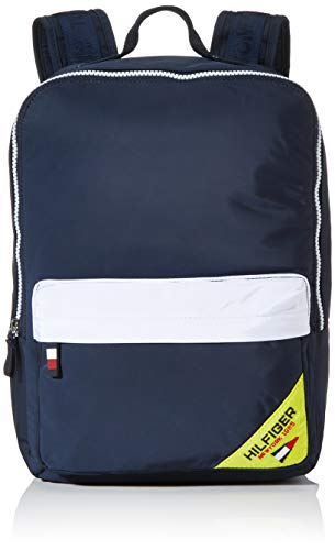 Tommy Hilfiger Unisex-Kinder Kids Square Backpack Sailing Rucksack Blau (Corporate/Fluro)