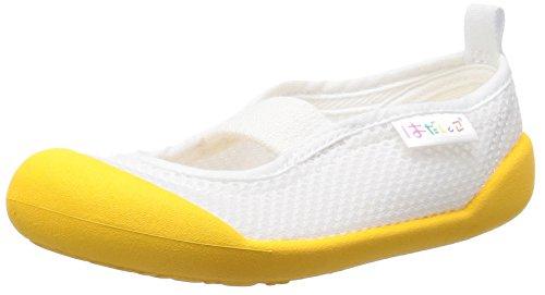 [ムーンスター] 上履き 日本製 14~21cm 0.5cm有 キッズ はだしっこ01 イエロー 19.5 cm 2E