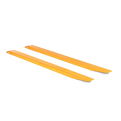 Titan Attachments Pallet Fork Extensions for Forklifts and Loaders, Slide On Clamp, 84-in x 5.5-in