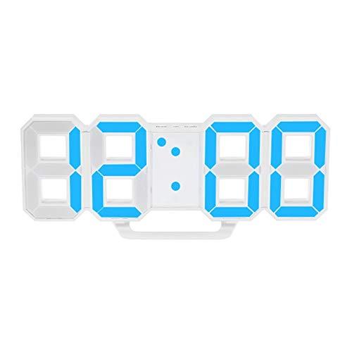 SEN Diseño Moderno Reloj LED Digital de Gran tamaño Reloj Temporizador para el hogar Relojes de Alarma Blanco TS-S60-B