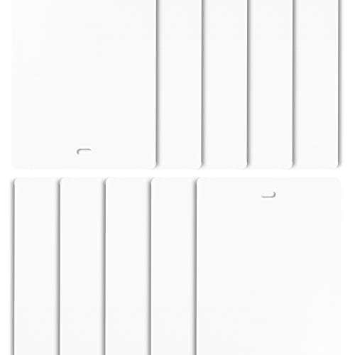 DALIX PVC Vertical Blind Replacement Slats Curved Smooth White 98.5 x 3.5 (10-Pack)