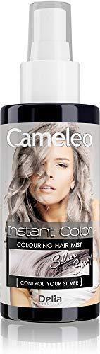 Cameleo - Farbspray für die Haare - Silber - für blondes, platinblondes & graues Haar - einfach sprühen & fertig - semi-permanent - sofortiges Ergebnis - 150 ml