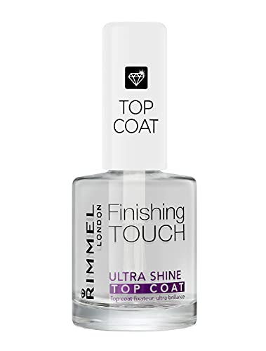 Rimmel - Top Coat Finishing Touch - Fixateur et Ultra Brillance - Tous Type d'Ongles - Ultra Shine Top Coat - 12ml