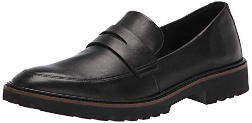 ECCO Women's Modern Tailored Penny Loafer, Black, 7-7. 5
