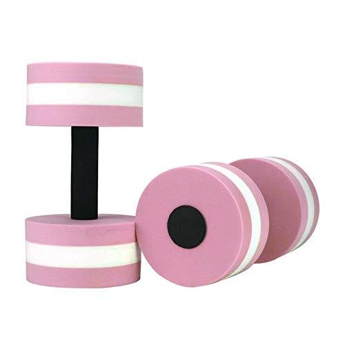 GZA 1 Par Aqua Fitness Barbells Espuma Mancuernas Barras De Manos Resistencia a La Piscina Ejercicio Equipos De Fitness Facultad De Mancuernas Edificio Corporal (Color : Pink)