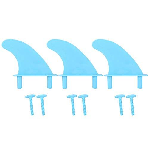 Naroote Kunststoff-Surfbrettflossen, Blaue tragbare Surfbrettflossen, Surfbrettflossen, Verwendung im Freien zum Surfen von Surfbrettliebhabern