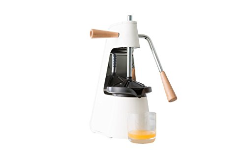 Chef'n Fresh Force Tabletop Citrus Press, 2.3, White/Stainless/Wood