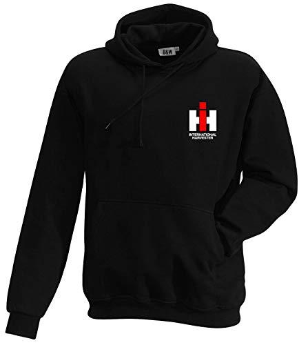 Bimaxx® Hoodie IHC International Harvester | Kleiner Brustdruck | schwarz | Größe XXL