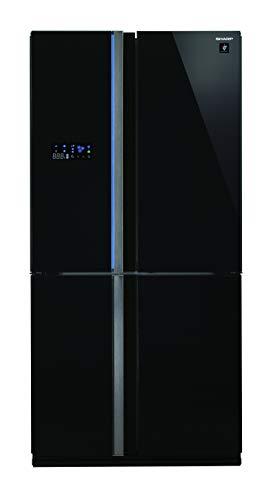 Sharp SJ-FS820VBK / French Door Side by Side / A++ / Höhe 183 cm / Kühlteil 393 L / Gefrierteil 207 L / NoFrost / J-Tech Inverter Technologie / Auto-Ice-Maker mit Eisauffangbehälter