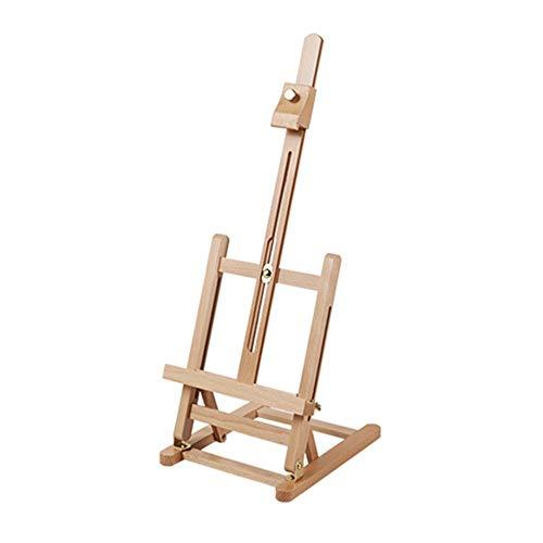 yaunli Caballete de escritorio pequeño plegable de escritorio para boceto de aceite, caballete publicitario para exposiciones de arte, caballete de madera (color natural, tamaño: caballete