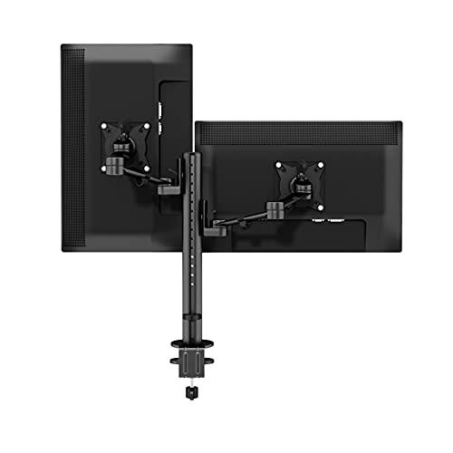 Soporte Pantallas MONITOR DUAL MONTE DE MONTAÑO 17 '-30' Altura de aleación de aluminio Altura de montaje de montaje / inclinación/ rotación Soporte de monitor ajustable, cada brazo tiene hasta 17, 6