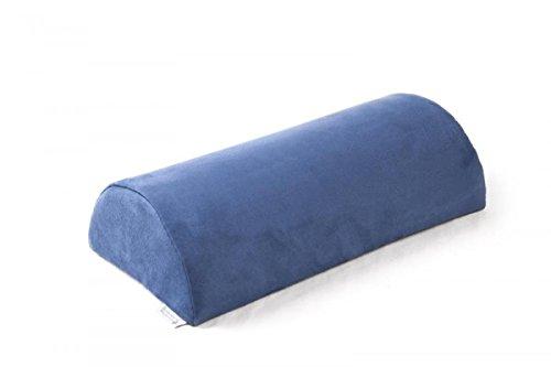 SW Bedding Halbrolle aus Schaumstoff LagerungsSW Bedding Halbrolle KnieSW Bedding Halbrolle NackenSW Bedding Halbrolle mit Bezug (Microfaser Mittelblau, Länge: 40cm Ø 15cm)