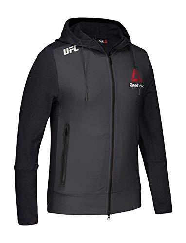 Reebok UFC Fight Kit Champion Walkout Hoodie, Black, Gravel, Medium