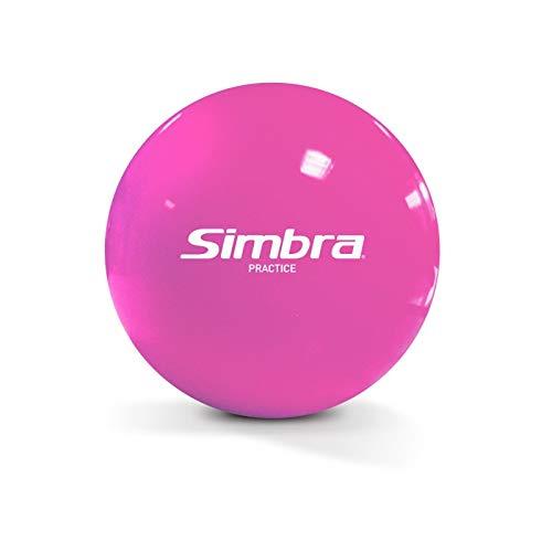Simbra Official Field Hockey Indoor/Outdoor Practice Balls | Official Field Hockey Balls - Super Smooth Stickhandling & Shooting Training Smart Speed Street Hockey Ball (Pink)