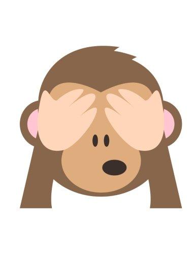 "Emoji Notebook   see-no-evil monkey: Lined   8.5"" x 11""   70 Sheet"