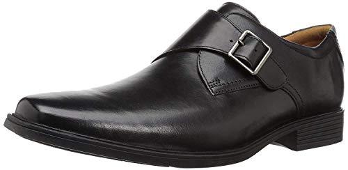 Clarks Men's Tilden Style Monk-Strap Loafer, Black Leather, 9.5 M US