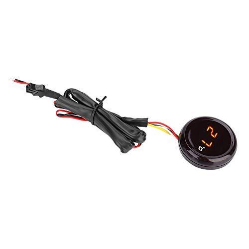 Termómetro de motocicleta, termómetro digital Medidor de temperatura del agua Medidor de temperatura de motocicleta Probador de ajuste(luz roja)
