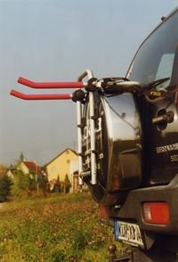 Fahrradheckträger ECKLA 77777 PORTY 4x4 für Ersatzrad Heck