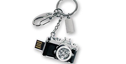 Llavero - USB 8 GB diseño Camara Reflex con mosquetón. 1 Unidad