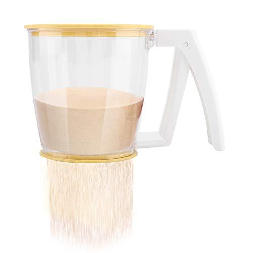 Taza del tamiz de la harina - Herramientas de los suministros de la hornada del tamiz de la malla del polvo del tamiz de la harina de los PP con la tapa
