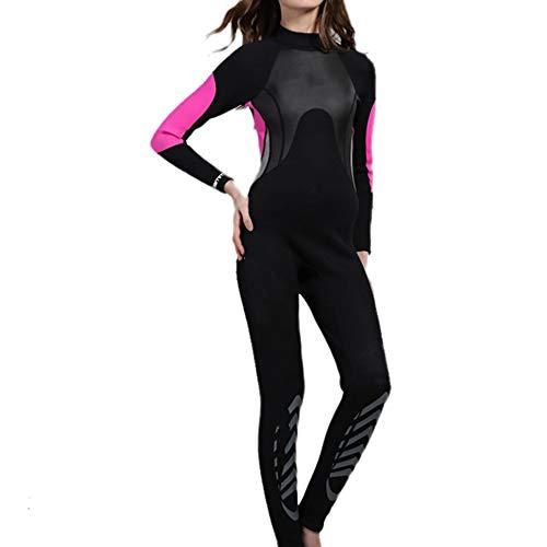 Muta da sub siamese Muta da donna con cerniera posteriore protezione UV completa 3mm neoprene completo da sub muta da sub termica for immersioni subacquee snorkeling surf kayak kayak canoa Costume da