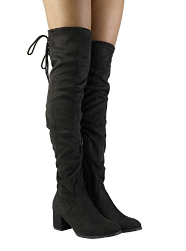 DREAM PAIRS Over The Knee Chunky Heel Boots