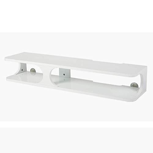 Household Necessities/plankset voor routers, voor het opbergen van de wandconsole, drijvende legplank, set top plank, wandplank, TV 90 x 22 x 15 cm Wit