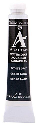 Grumbacher Academy Watercolor Paint, 7.5ml/0.25 Ounce, Payne's Gray (A156)