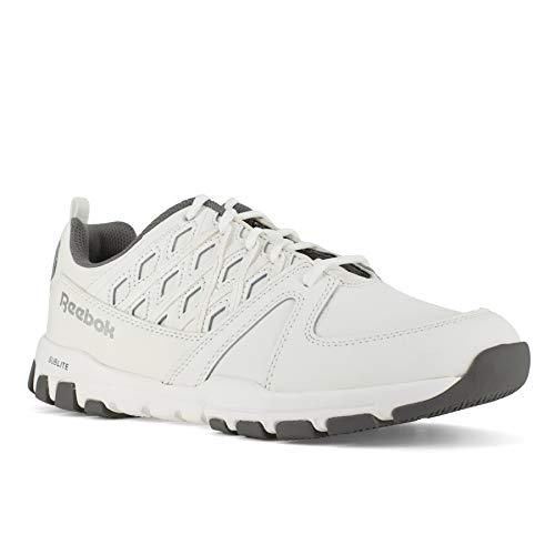Reebok Zapatos de trabajo atléticos de los hombres Sublite de la seguridad del dedo, blanco (Blanco), 34.5 EU