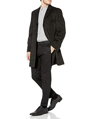 Hart Schaffner Marx Men's Wool Blend Coat, Black, 40R