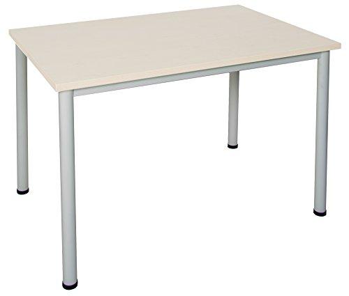 Dila GmbH Schreibtisch in verschiedenen Größen und Farben graues Metallgestell Konferenztisch Besprechungstisch Arbeitstisch Universaltisch...