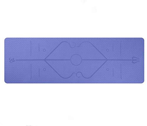 1830 * 610 * 6 mm TPE Yoga Mat con la Posición Línea Antideslizante Alfombra de Fitness for Principiantes Ambiental colchonetas for Gimnasia