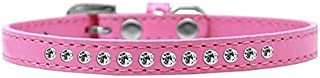 Mirage Pet Products Clear Crystal Puppy Dog Collar