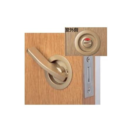 引戸レバー鎌錠 表示錠(トイレ錠) バックセット 38mmゴールド(01270-17920)