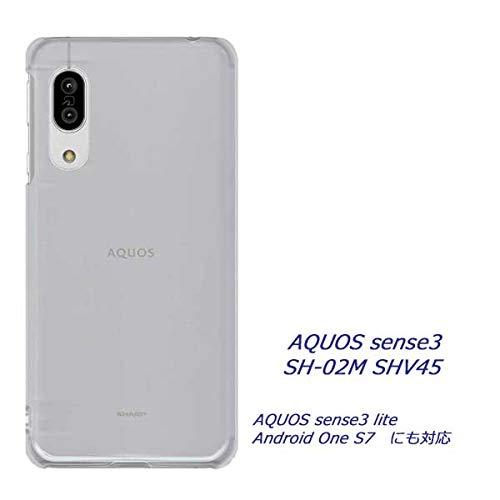 AQUOS sense3 basic SHV48 ケース スマホケース ハードケース クリアケース アクオス センス3 ベーシック shv48 AQUOS sense3 SH-02M SHV45 アンドロイド 透明 シンプル 無地ケース ポリカーボネート製