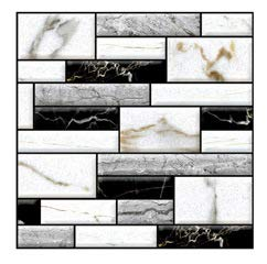 Fabulous Décor: Wall Tiles, Soft 3D Thick Gel Decals, Marble Tones Design, DIY Peel and Stick, Self-Adhesive, Backsplash, Kitchen, Bathroom, Water and Heat Resistant 11.8 x 11.8 (10 Tiles)