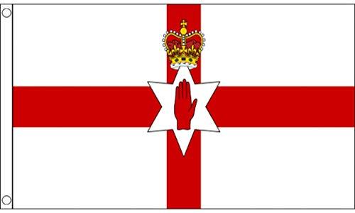 FlagSuperstore Bandera de Irlanda del Norte 5 x 3 pies – 100% poliéster con Ojales