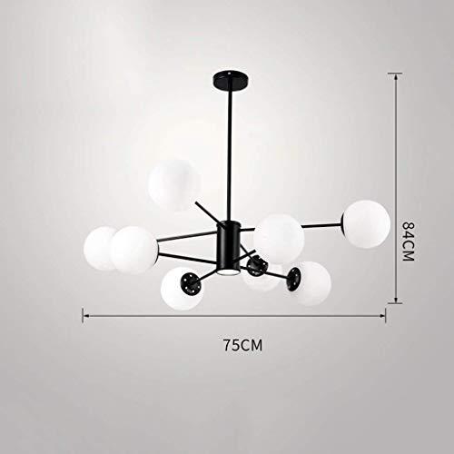 HYY-YY Lámpara Colgante nórdica Haba mágica Bola de Cristal de la lámpara de la Personalidad Creativa Sala Comedor Dormitorio Tienda de Ropa Cafe Araña (Color : A8 Heads)