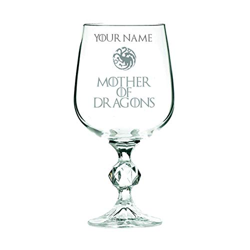 ORIGINAL Artisan Handcrafted Hand Painted Game of Thrones Wolf Wine Glass 1