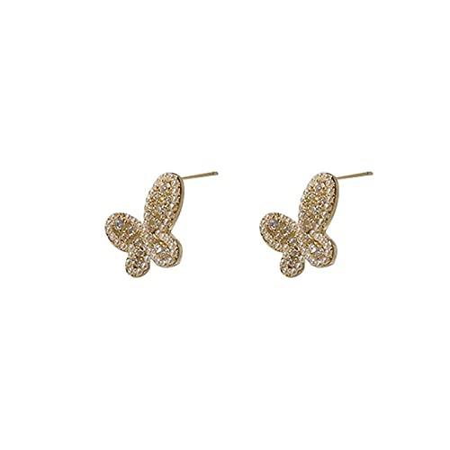 YANXIA Pendientes Vintage Elegantes Pendientes Colgantes de Mariposa para Mujer Pendientes Regalo