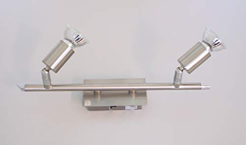 Plafondspot 2 spots plafondspot plafondlamp beweegbare spots vloerlamp (plafondlamp, woonkamerlamp, 2 x 50 watt)