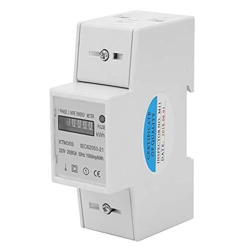 Compteurs d énergie Compteur électrique Compteur électrique monophasé 220V 2 fils 2P 20(80) A Compteur électrique digital Din Rail Électronique KWh Mètre
