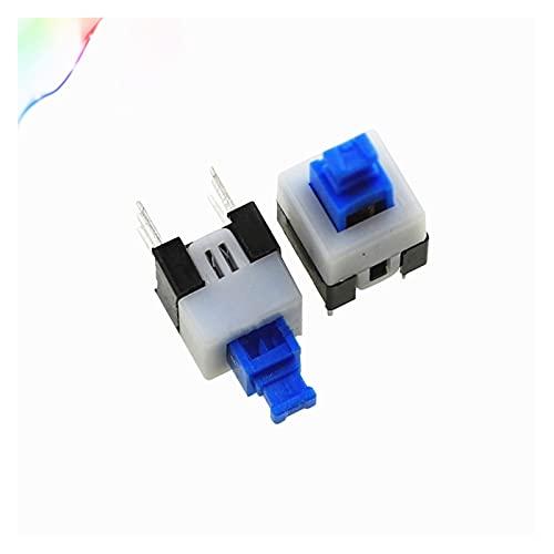Jgzwlkj Interruttori a Pulsante 20pcs 7 * 7mm 6 Pin Push Tactile Power Micro-Interruttore Auto Blocco On/off Button Switch di Chiusura (Color : Self Locking)