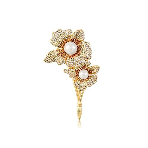 hongbanlemp Broches Broche para Mujeres Moda Pearl Delicate Broche Pins Pins Elegant Vestido Accesorios Abrigos Pins Pins Lugar de Trabajo Accesorios para Mujer Mujer Broche