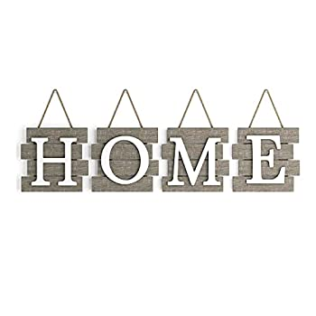 """Barnyard Designs Home Tile Sign Wall Decor Rustic Primitive Country Decorative Wall Art for Home and Kitchen 32  x 8"""""""