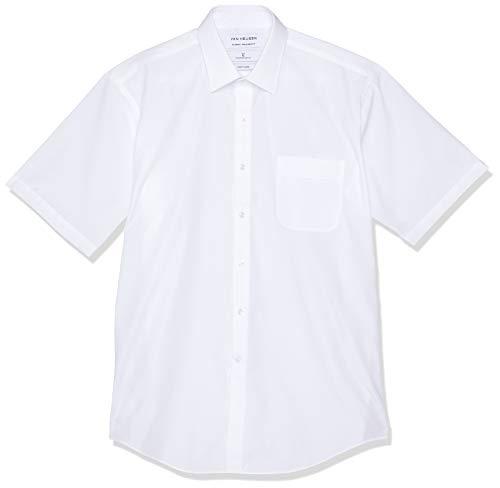 VAN HEUSEN mens Classic Relaxed Fit Shirt Vertical Stripe White 44cm Collar x 94cm Sleeve