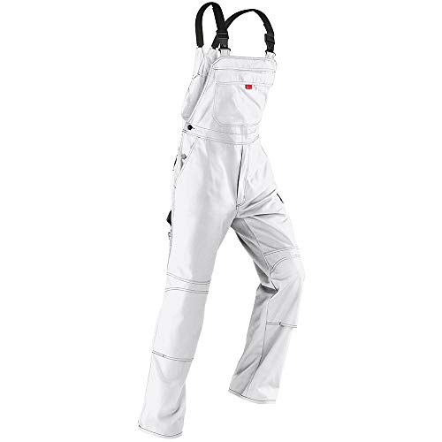 Kübler Inno Plus Uni-Dress weiß Arbeitshose Gr. 50 / Latzhose /Diensthose