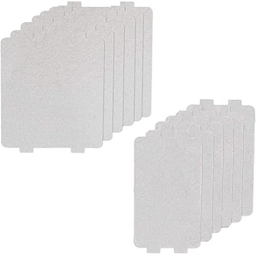 CFDYKRP 12 Hoja Paquete Mica Placas de Onda Cubierta de la guía de Onda de microondas de Piezas Mica Placa de Piezas de Repuesto