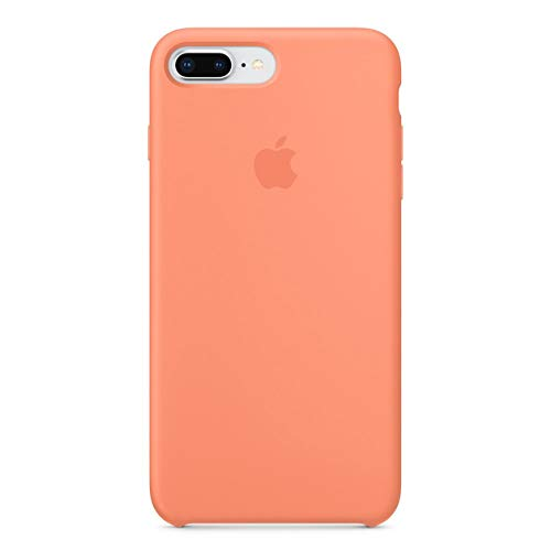 MmtCase iPhone 7 Plus/iPhone 8 Plus Case (5.5 inch), Soft Liquid Silicone Shock-Absorption Case with Soft Microfiber Cloth Lining Cushion - 5.5 inch (Peach Red)
