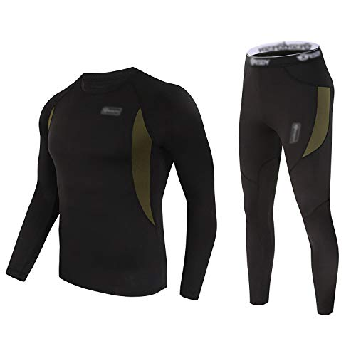 Thermal Underwear Set Winter Hunting Gear Sport Long Johns Base Layer Bottom Top